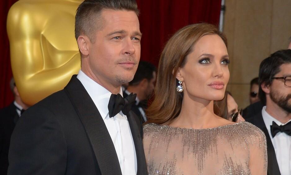 KRANGEL: Skilsmissen mellom Brad Pitt og Angelina Jolie har ikke gått stille for seg. Nå er det nok en krangel om en eiendom i Frankrike som preger forholdet mellom stjernene. Foto: NTB Scanpix