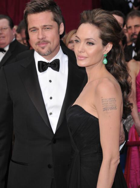 HETT PAR: Brad og Angelina var et av Hollywoods hotteste par da de var sammen. Foto: NTB scanpix