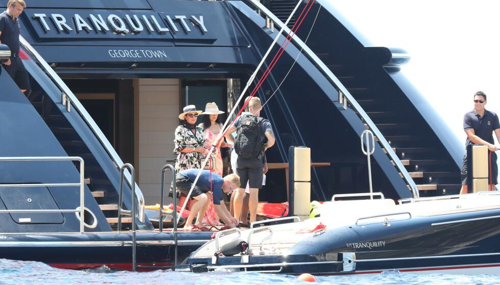 <strong>TRANQUILITY:</strong> Kylie Jenner må tydeligvis punge ut med rundt 10 millioner dollar for å leie yachten, «Tranquility», i en uke. Foto: NTB Scanpix