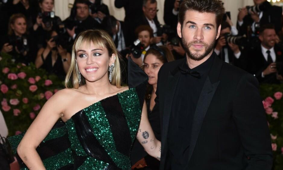 BRUDD: Miley Cyrus og Liam Hemsworth har gått hver til sitt, melder en representant for Cyrus. Foto: Michael Buckner/Variety/REX