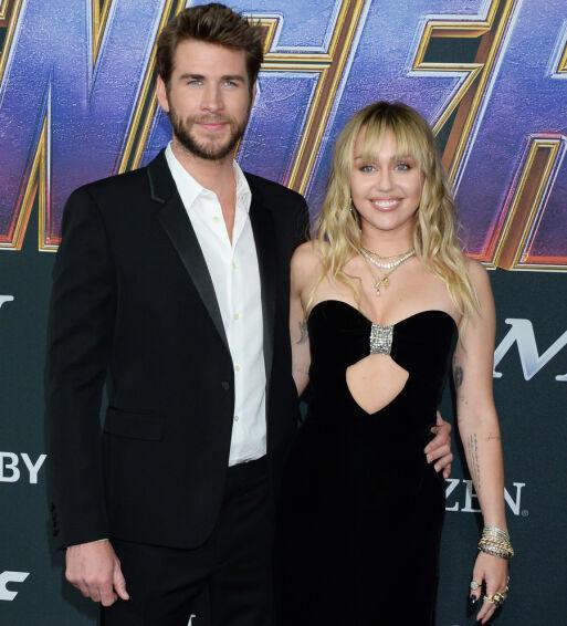 BRUDD: Liam og Miley giftet seg i desember. Nå er det slutt. Foto: NTB Scanpix