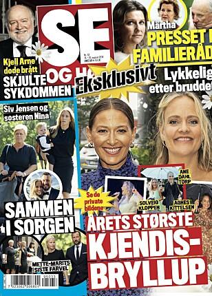 AVSLØRER KJÆRESTE: Det er i tirsdagens utgave av Se og Hør at Tore Petterson avslører at han har funnet kjærligheten. Faksimile: Se og Hør