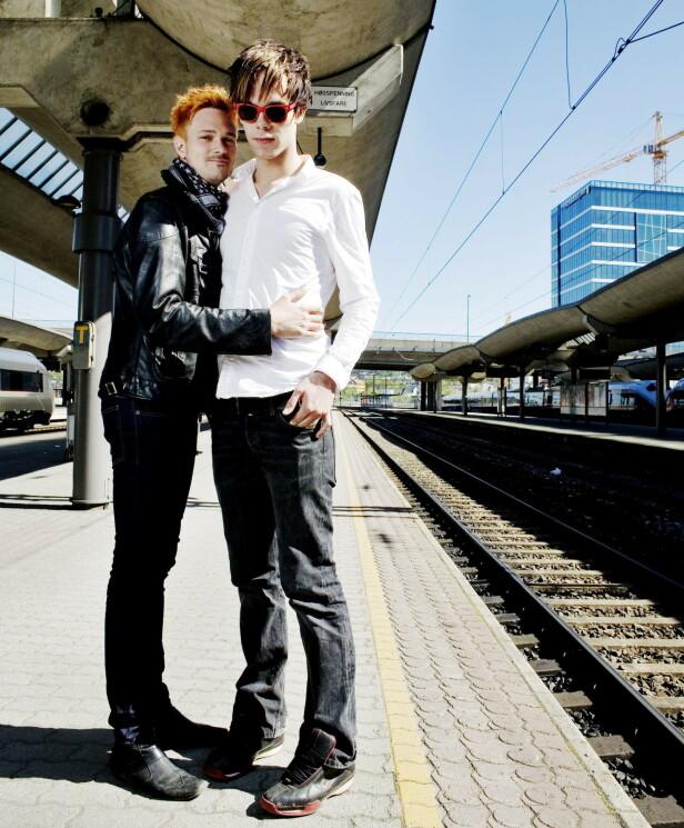 2008: Tore Petterson og Morten Hegseth var henholdsvis 29 og 22 år gamle da de stilte opp sammen i en reportasje hos Dagbladet. Foto: Torbjørn Grønning / Dagbladet