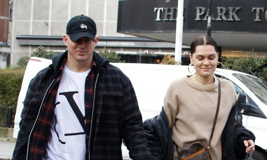 BRUDD: Det skal angivelig være over mellom stjerneparet Channing Tatum og Jessie J, etter drøyt et år som kjærester. Her er de avbildet på shopping i London. Foto: NTB Scanpix
