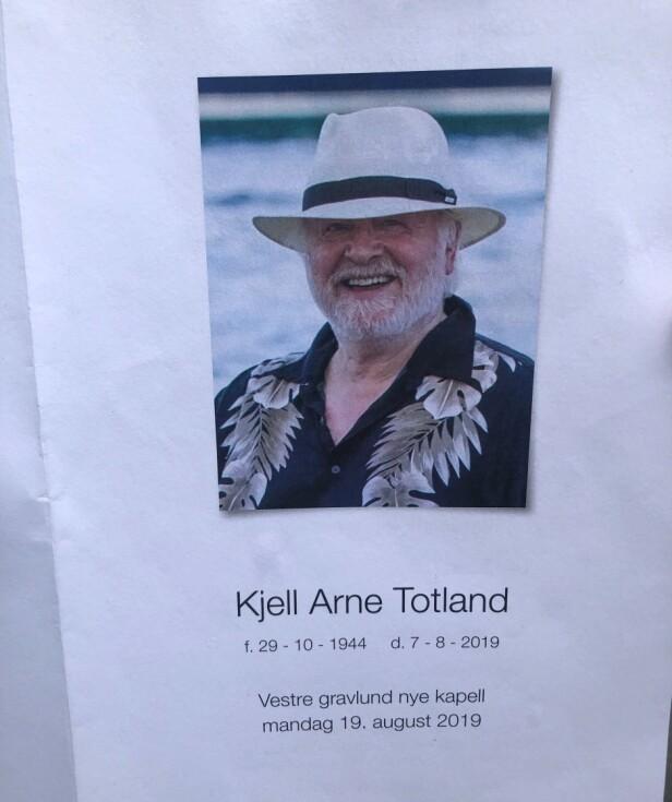 <strong>BISETTES:</strong> Kjell Arne Totland bisettes mandag ettermiddag. Foto: Tore Østvold