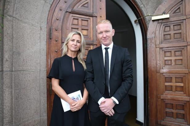 <strong>TIL STEDE:</strong> Cathrine Fossum og Rune Kjos fra TV 2 hadde møtt opp. Foto: Andreas Fadum / Se og Hør