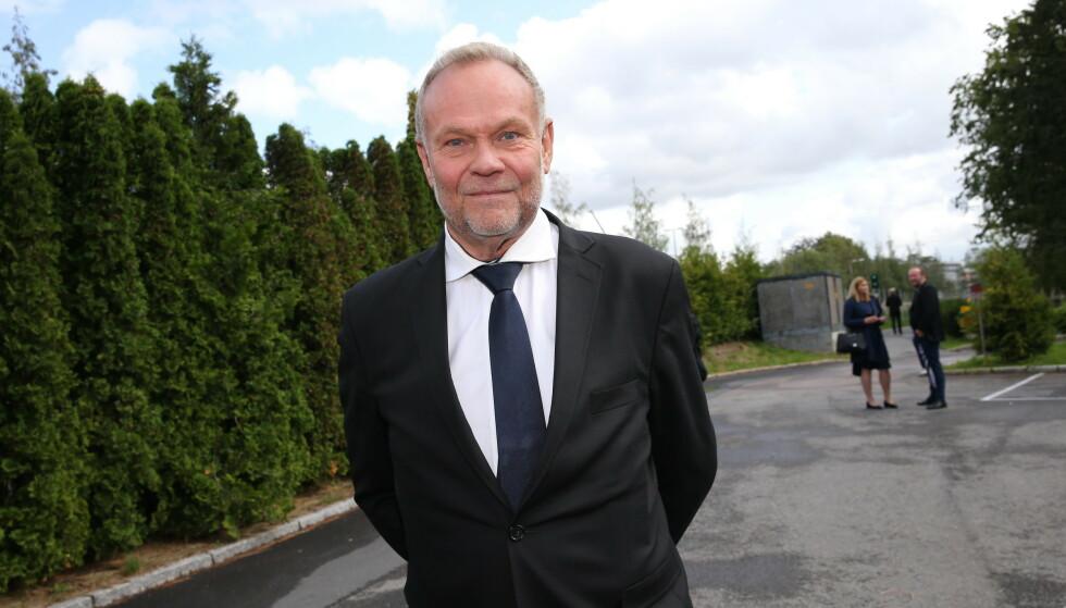 <strong>HOLDT TALE:</strong> Nils Gunnar Lie holdt tale på vegne av TV 2. Foto: Andras Fadum / Se og Hør