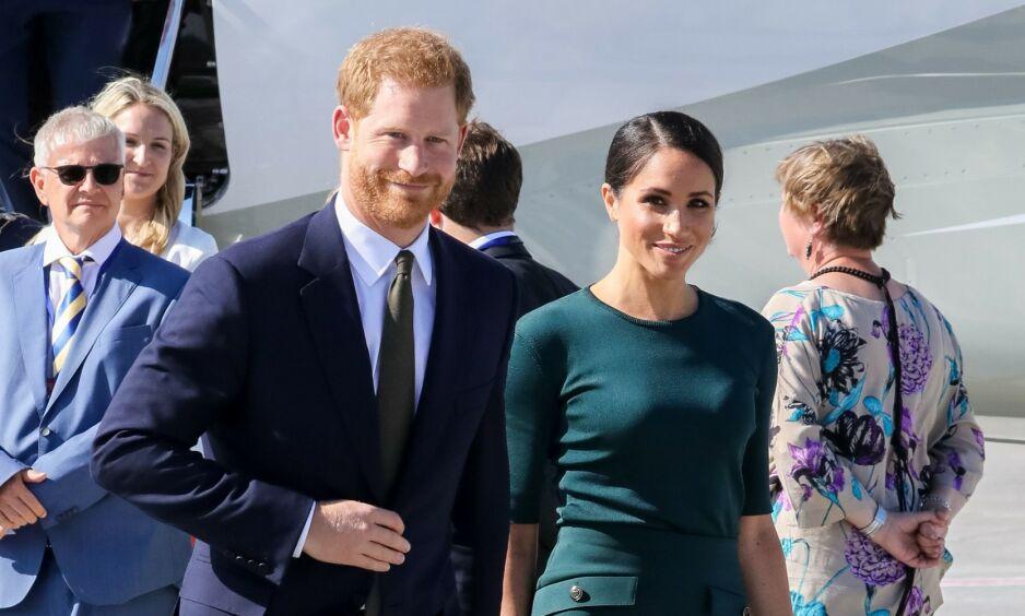 FERIEKRITIKK: Prins Harry og hertuginne Meghan skal ha tatt flere turer med privatfly den siste tiden - og dét faller ikke i god jord hos alle. Foto: NTB scanpix