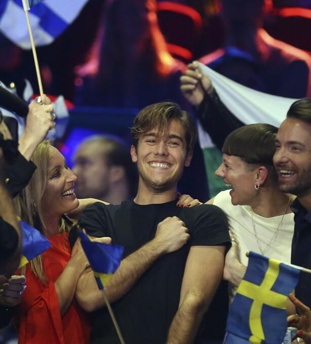 EUROVISION: Benjamin Ingrosso representerte Sverige under Eurovision Song Contest i 2018, der han til slutt endte på en sjuendeplass. Etter det har karrieren satt fart. Foto: NTB Scanpix