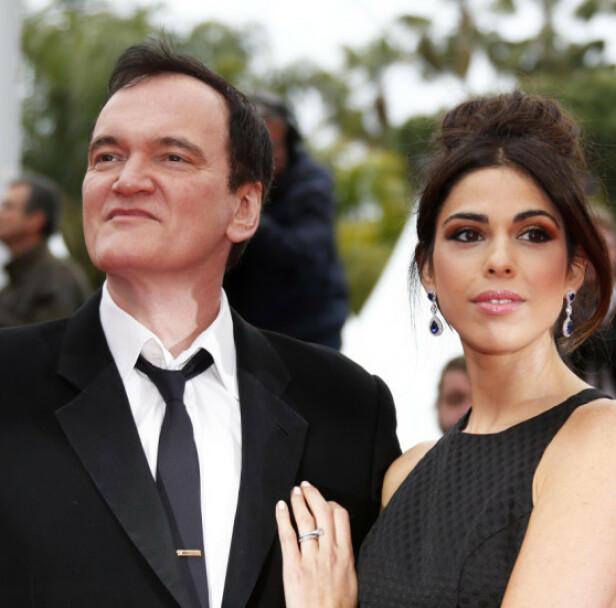 GIFTET SEG: I november 2018 ble Quentin Tarantino og Daniella Pick smidd i hymens lenker. Foto: NTB Scanpix