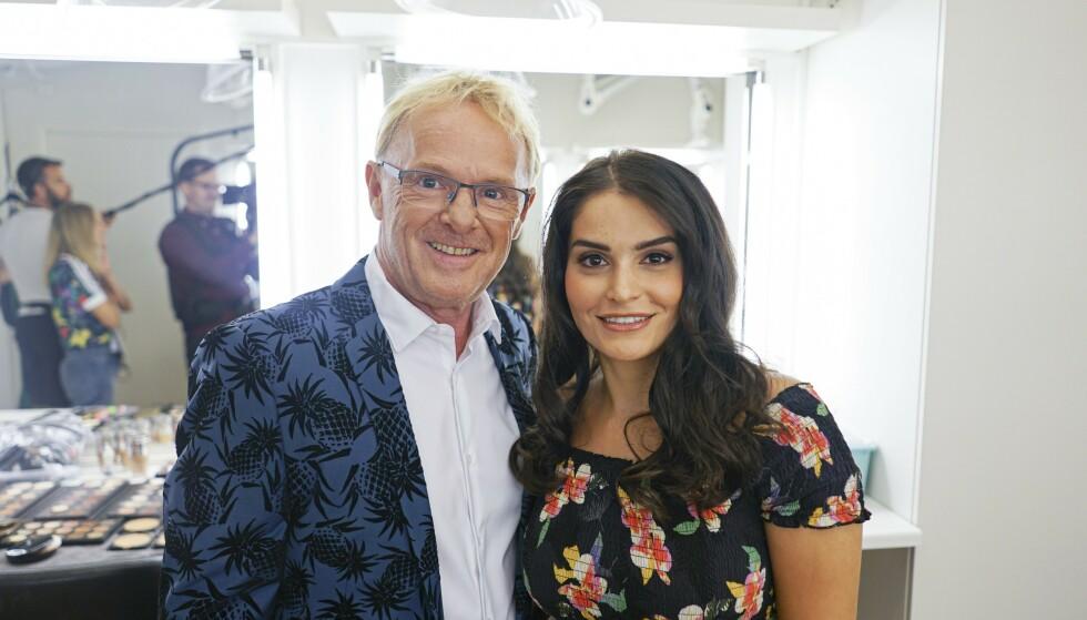 LYKKELIGE: Nå tar Per Sandberg og Bahareh Letnes forholdet ett steg videre. Foto: TV 2
