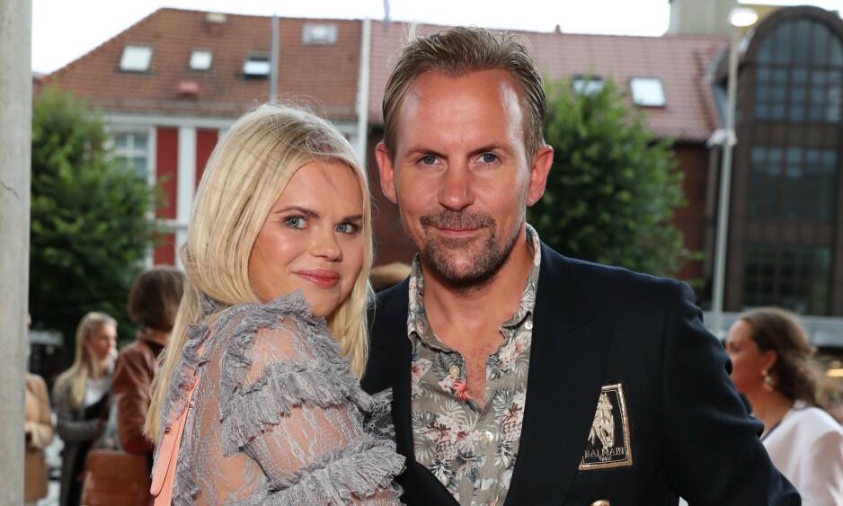 FESTKLARE: Julianne Nygård og ektemannen Ulrik Nygård gleder seg til en barnefri kveld. Foto: Andreas Fadum / Se og Hør