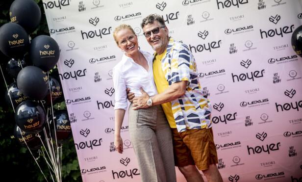 <strong>VERTENE:</strong> Ørnulf Høyer og kona Line Strandli Høyer inviterte til fest fredag kveld. Foto: Christian Roth Christensen / Dagbladet