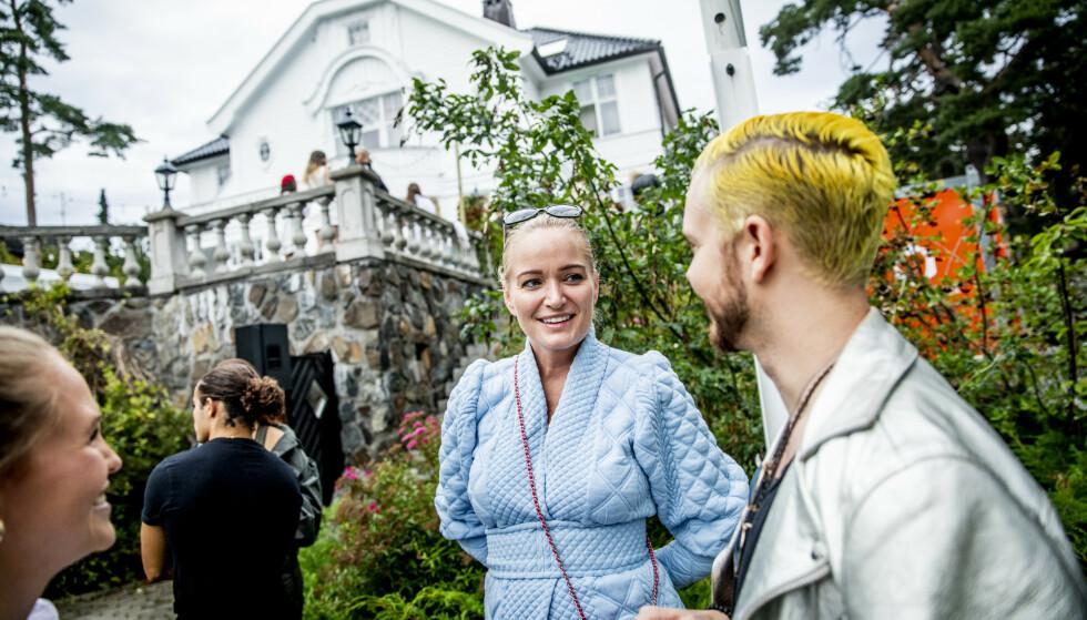 <strong>FESTKLAR:</strong> Marte Krogh ikledd eget design. Foto: Christian Roth Christensen / Dagbladet