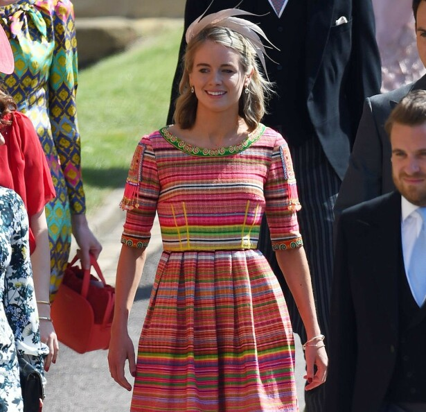 INVITERT: Cressida møtte i bryllupet til Harry og Meghan. Foto: NTB Scanpix