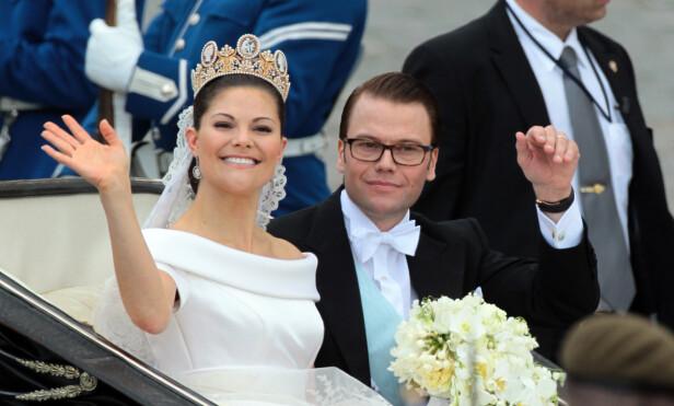 <strong>BRYLLUP:</strong> Sveriges kommende dronningpar giftet seg 19. juni 2010. Et knapt år i forveien hadde prins Daniel vært alvorlig syk. Foto: NTB Scanpix