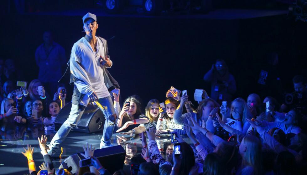 <strong>FALLET:</strong> For mange nordmenn står skandalekonserten i 2015 igjen som et symbol på Justin Biebers fall. Selv avslører han at han på dette tidspunktet hadde tatt alle de dårlige valgene man kan tenke seg. Foto: Heiko Junge / NTB Scanpix