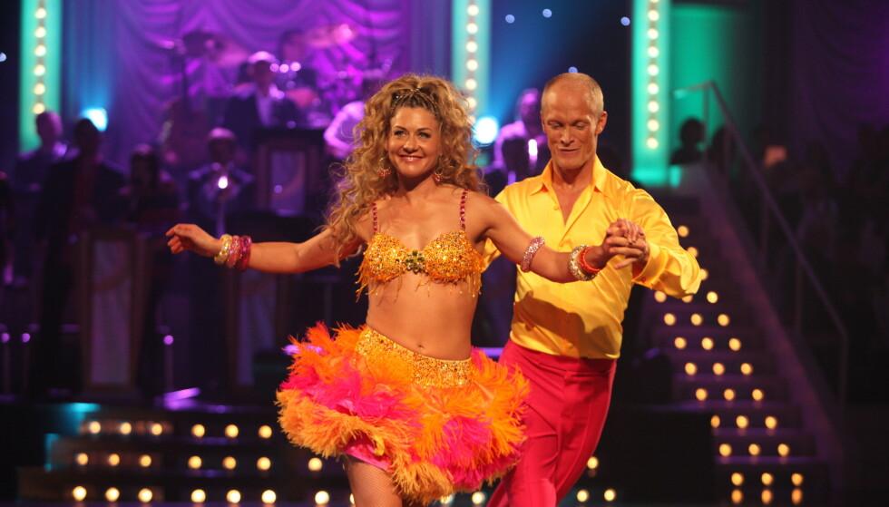 FULL DANS: Tobias Karlsson har vært med i det populære danseprogrammet i flere sesonger. Her med Cecilie Skog i 2010. Foto: NTB Scanpix