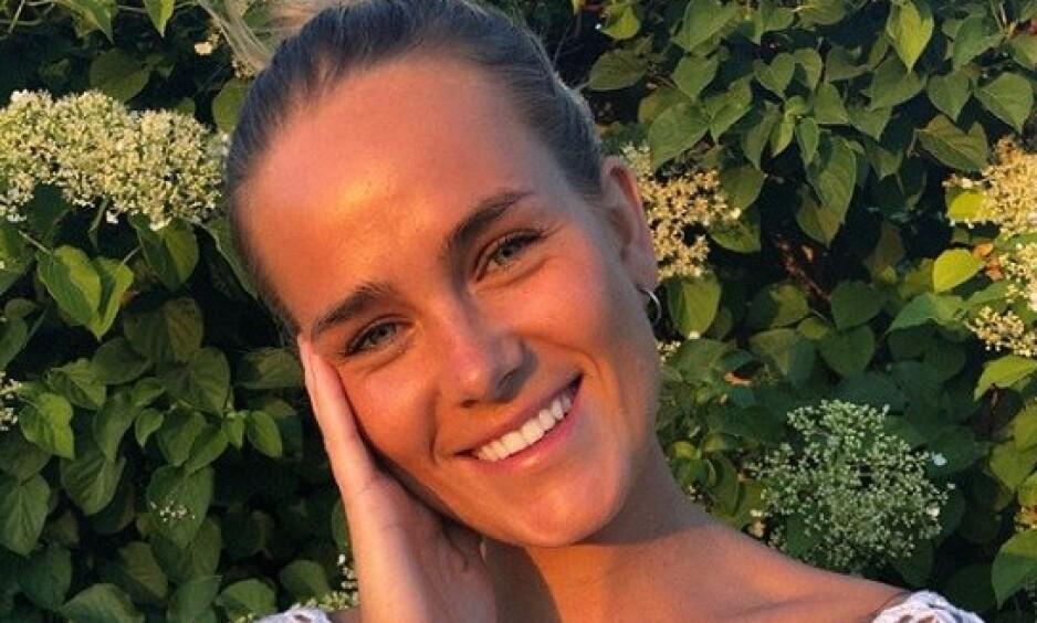 DELER OM SYKDOMMEN: Tidligere «Paradise Hotel»- deltaker Martine Johansen holdt spiseforstyrrelsen skjult for sine nærmeste. Nå forteller hun åpenhjertig om bulimien. Foto: Skjermdump fra Instagram