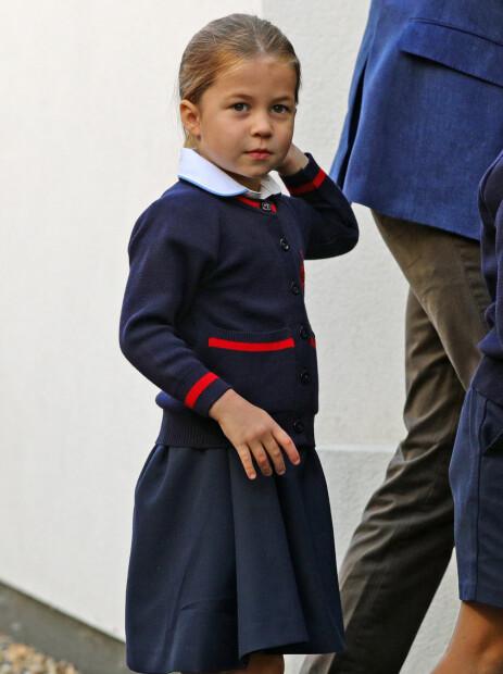SKOLEJENTE: Prinsesse Charlotte har nå begynt på skolen. Foto: NTB Scanpix