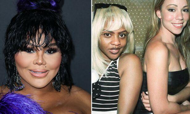 UGJENKJENNELIG: Lil' Kim omtales ofte som et skrekkeksempel på at plastisk kirurgi kan gå for langt. Her er hun avbildet i 2019, og sammen med Mariah Carey i 1997. Foto: NTB scanpix