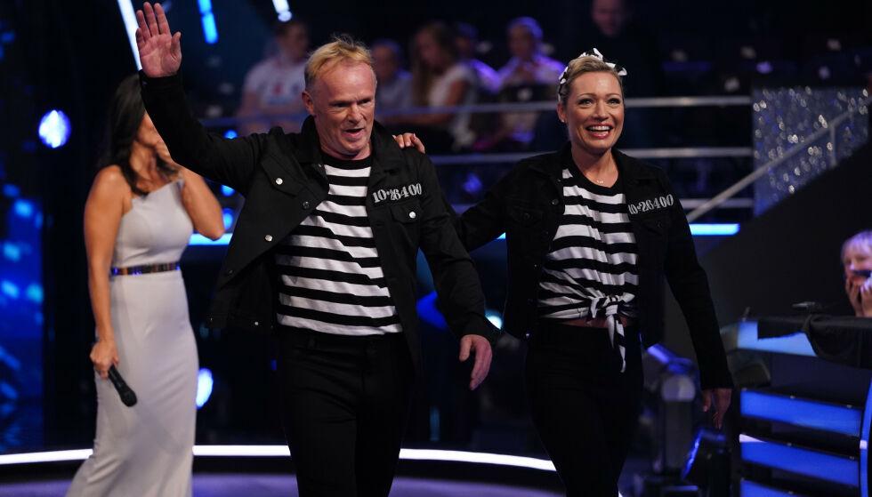 HIT, MEN IKKE LENGER: Per Sandberg og dansepartneren Ewa Trela ble det første paret til å legge danseskoene på hylla denne sesongen. Foto: TV 2