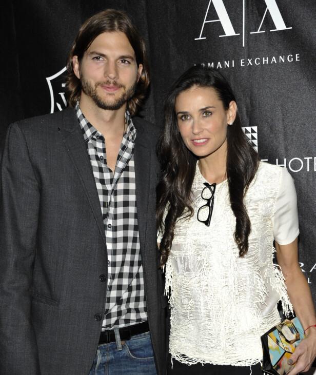 <strong>KJENT PAR:</strong> Forholdet mellom Demi Moore og den 15 år yngre Ashton Kutcher vakte stor oppsikt. Paret skilte seg offisielt i 2013. Her er de avbildet i 2011. Foto: NTB Scanpix