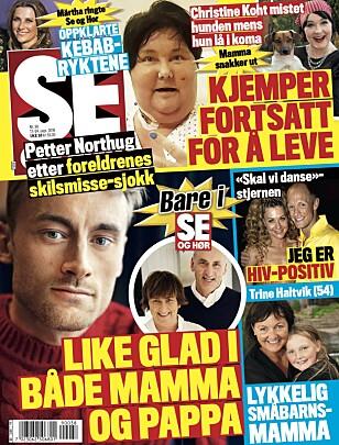 ÅPNER OPP: Det er til Se og Hør at Petter Northug kommenterer foreldrenes skilsmisse. Faksimile Se og Hør
