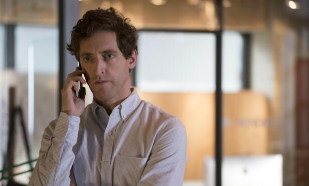 STJERNE: Thomas Middleditch har spilt i HBO-serien «Silicon Valley» i en rekke år. Dette bildet er fra femte sesong. Foto: HBO/Kobal/REX, NTB scanpix