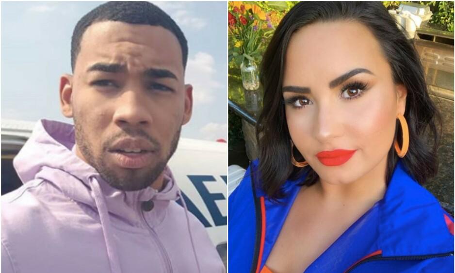 NY FLAMME? Demi Lovato og Mike Johnson skal ha funnet tonen etter å først ha flørtet via sosiale medier. Foto: Instagram/Demi Lovato/Mike Johnson