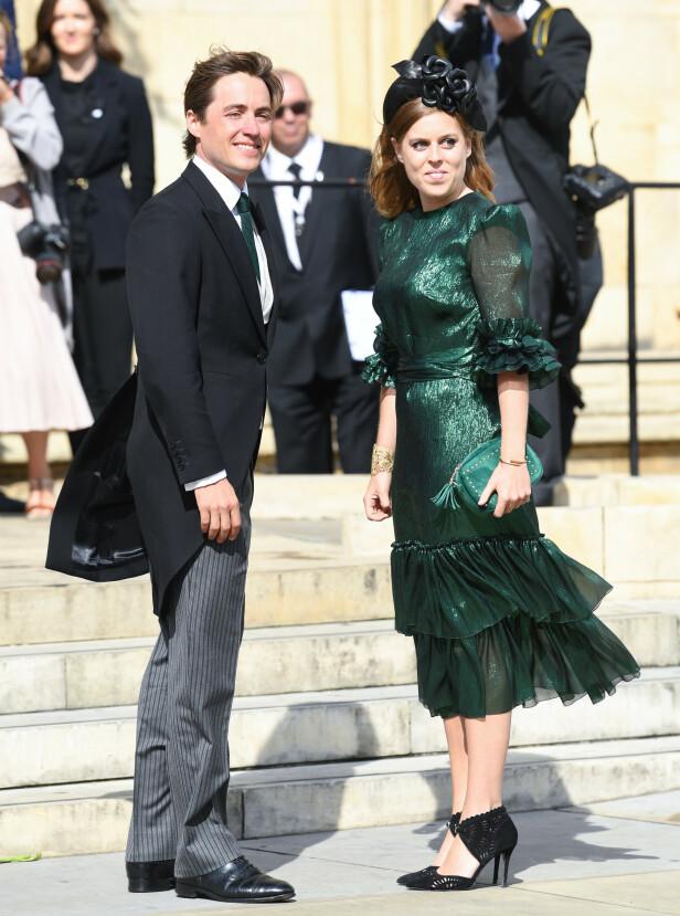 <strong>FORLOVET:</strong> Torsdag kom den hyggelige nyheten om at prinsesse Beatrice hadde forlovet seg. Foto: NTB Scanpix