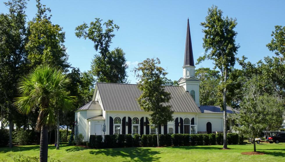 KAPELLET: Det er angivelig i dette kapellet at stjerneparet skal gi hverandre sitt ja for andre gang. Foto: NTB Scanpix