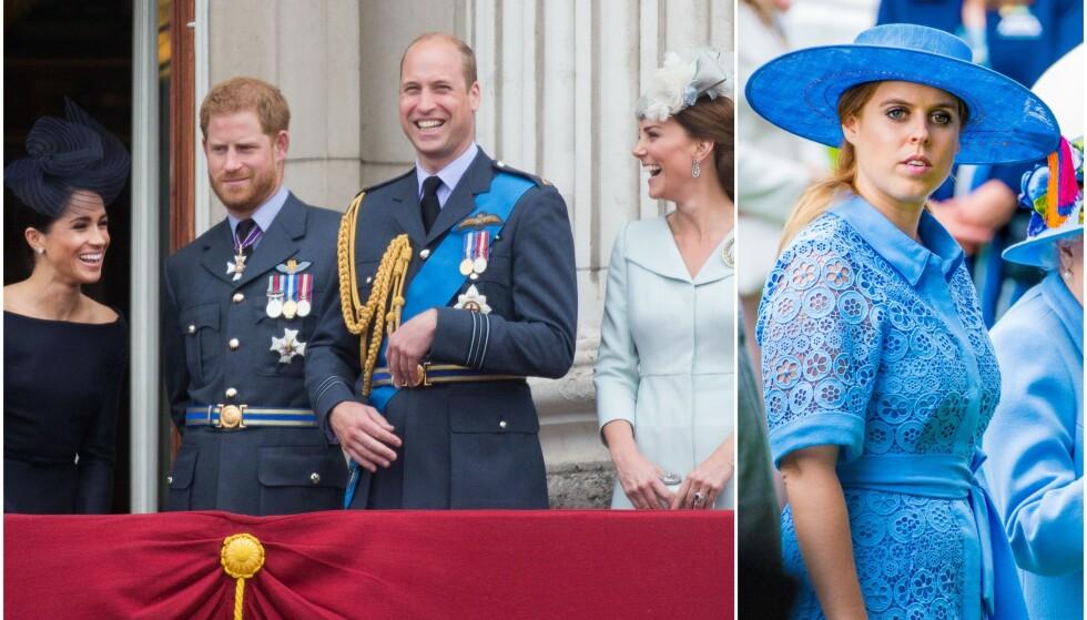 INGEN HILSEN: Verken hertuginne Meghan og prins Harry eller prins William og hertuginne Kate har delt noen offisiell gratulasjon etter prinsesse Beatrice sin forlovelse. Foto: NTB scanpix