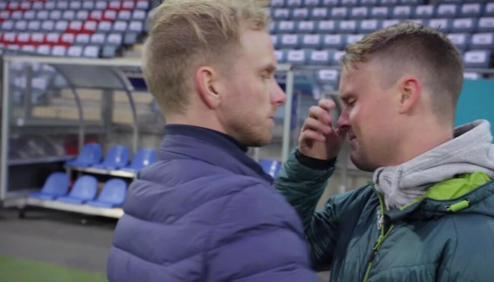 SJOKK: Det ble følsomt for Walseth da han fikk sjokknyheten om hvor mye spillegjeld han har. Foto: TV3