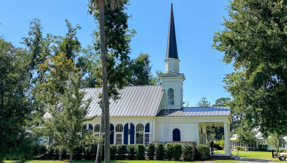KIRKEN: Det var i denne kirken paret sa «ja» for andre gang. Foto: NTB Scanpix
