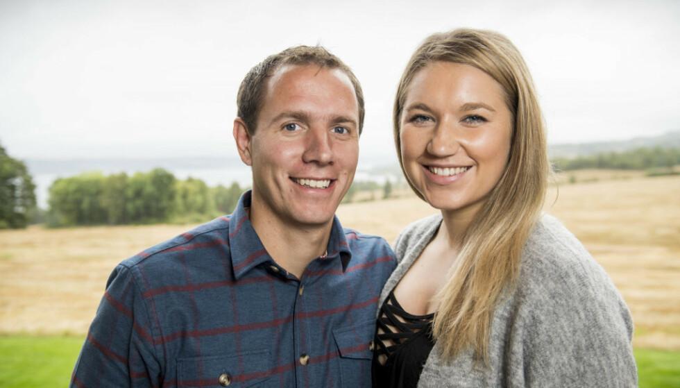 HURRA: Ingvar Alstad og Trine Merethe Sverkmo avslører at de skal bli foreldre for første gang. Foto: Lars Eivind Bones/ Dagbladet
