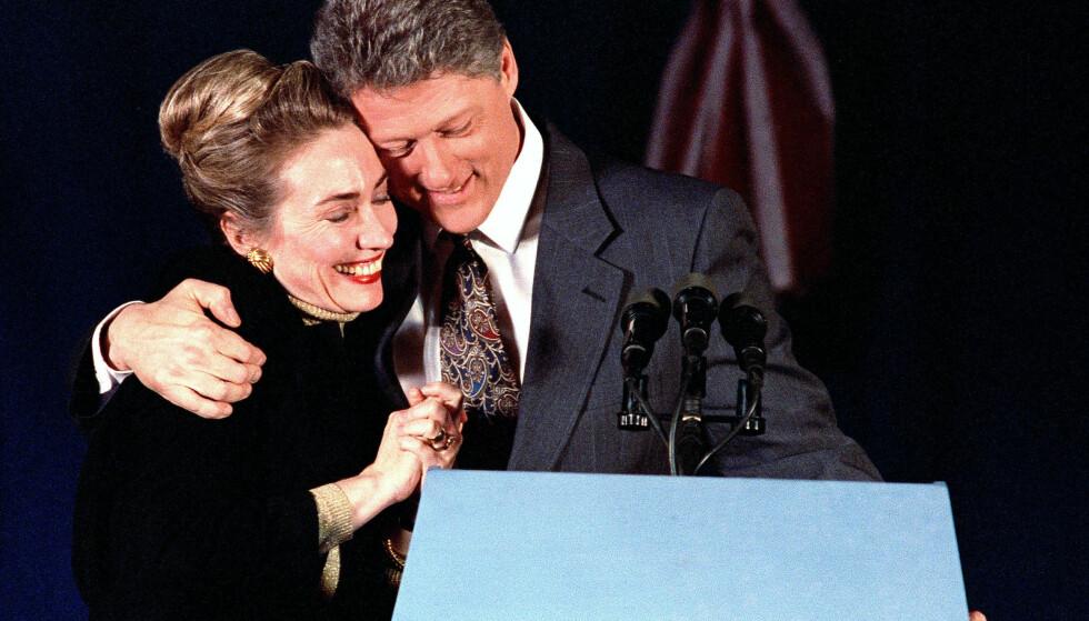 EKTESKAPET: Bill og Hillary Clinton har vært gift i en årrekke. Alle ryktene om affærer styrket ikke akkurat ekteskapet. Foto. NTB scanpix