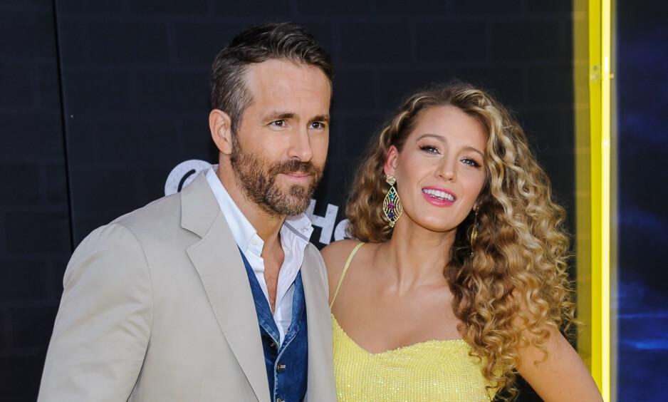 BARN IGJEN: Skuespiller Blake Lively og ektemannen Ryan Reynolds har fått sitt tredje barn sammen. Her på rød løper i mai i år - da de annonserte graviditeten. Foto: NTB Scanpix