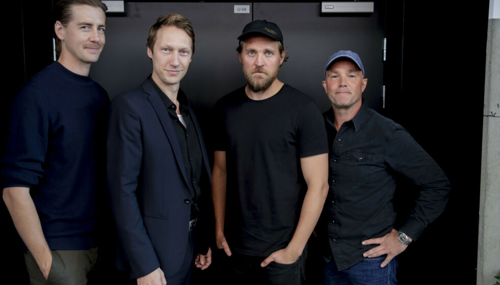 STJERNELAG: Pål Sverre Hagen, Simon J. Berger, Tobias Santelmann og Jon Øigarden. Foto: NTB Scanpix