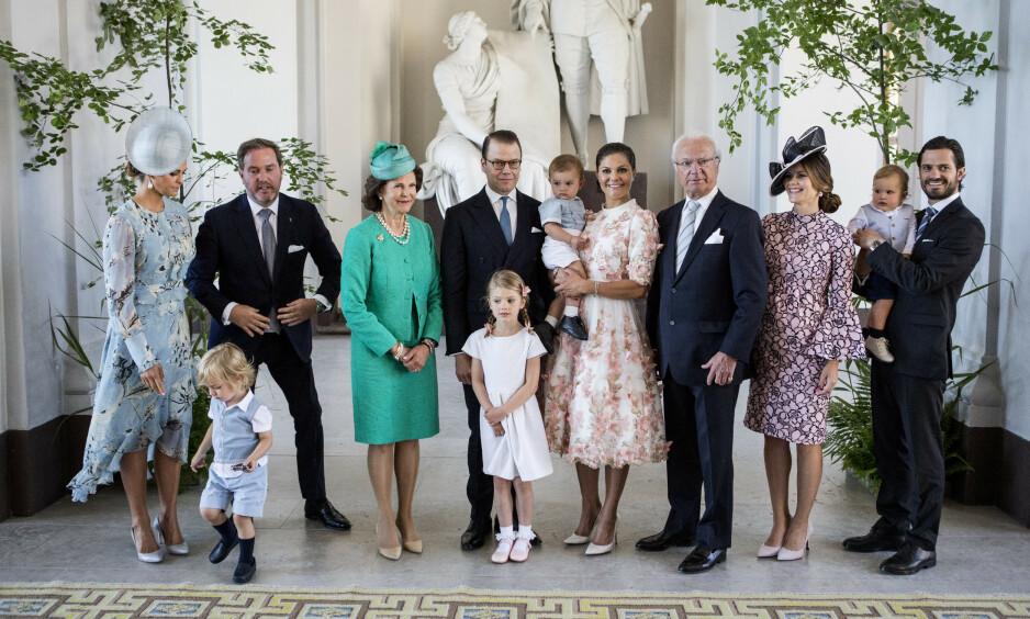 <strong>ENDRINGER:</strong> Det svenske kongehuset skriver i en pressemelding at barna til prinsesse Madeleine og prins Carl Philip ikke lenger vil tilhøre kongehuset. Foto: NTB Scanpix