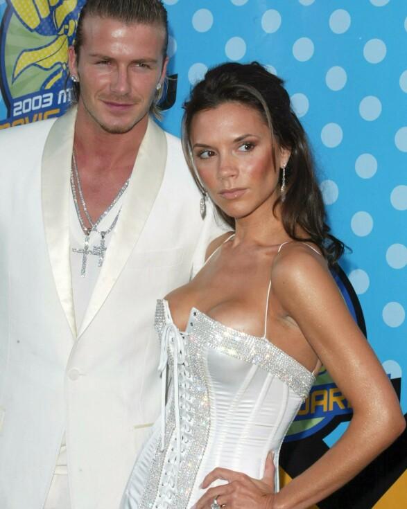I 2003: David Beckham og Victoria Beckham på MTV Movie Awards. Foto: Matt Baron/BEI/REX/ NTB scanpix