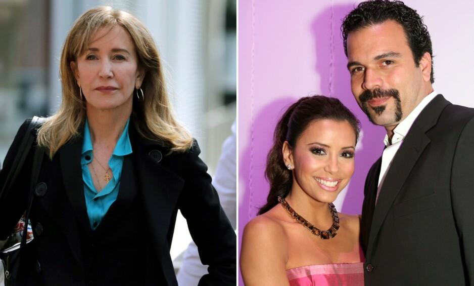 MISFORNØYD: Skuespiller Ricardo Chavira tok til Twitter for å uttrykke sin misnøye over dommen til skuespillerkollega Felicity Huffman i midten av september. Til venstre er han avbildet med Eva Longoria i 2006. Foto: NTB Scanpix