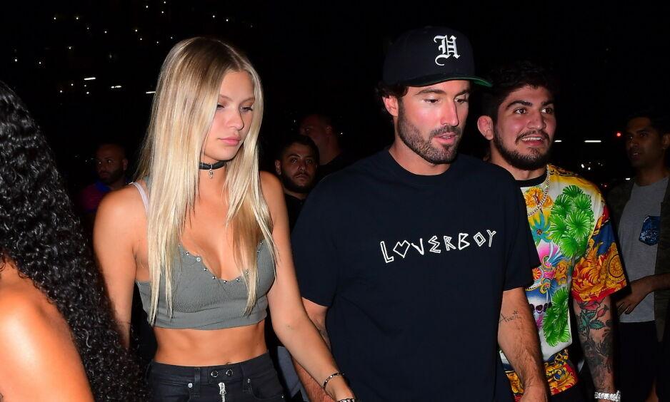 FULL FART: Det var i august at den 22 år gamle Playboy-modellen Josie Canseco ble koblet til Brody Jenner. Nå prater de angivelig både om barn og bryllup. Foto: NTB scanpix