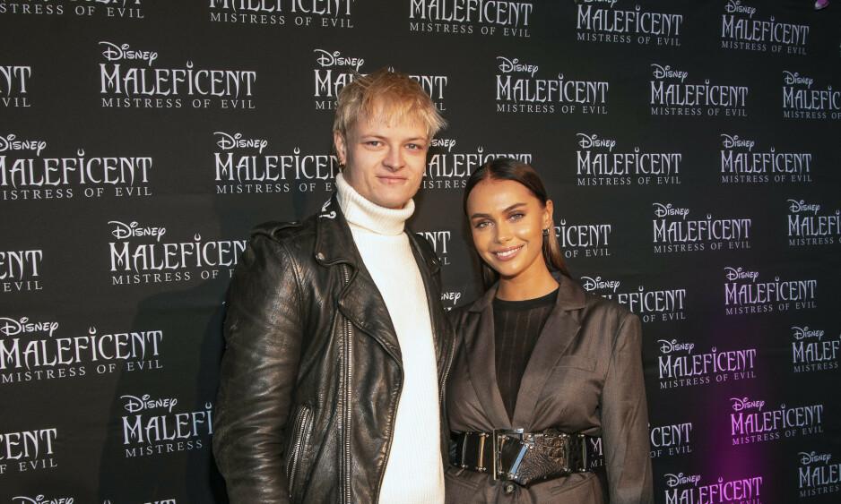 FILMDEBUT: Marius Borg Høiby viste sin støtte til kjæresten Juliane Snekkestad under premieren av «Maleficent: Mistress of Evil» mandag. Foto: Tor Lindseth