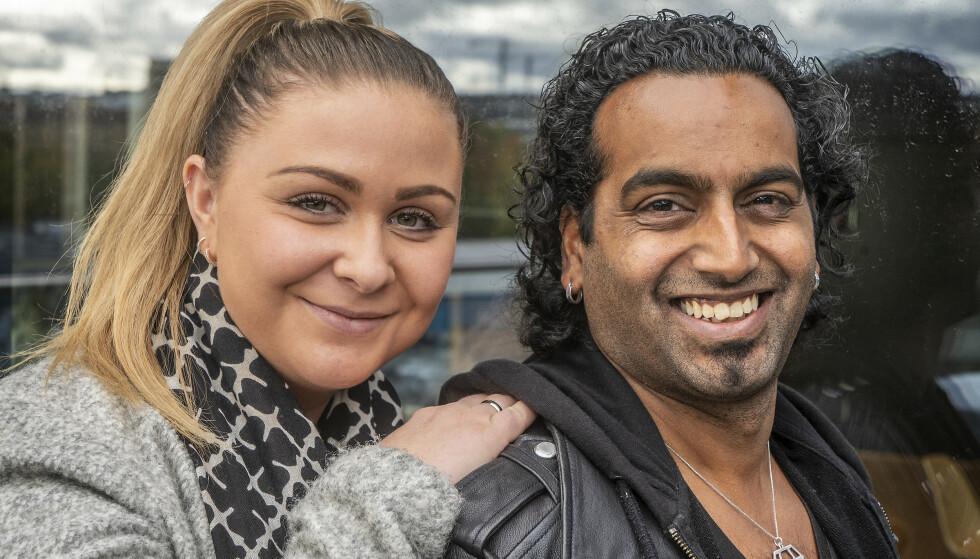 <strong>HYLLER KJÆRESTEN:</strong> Chand Torsvik hyller kjæresten Thea Stenersen, for å ha fylt tomrommet i livet hans. Foto: Hans Arne Vedlog / Dagbladet