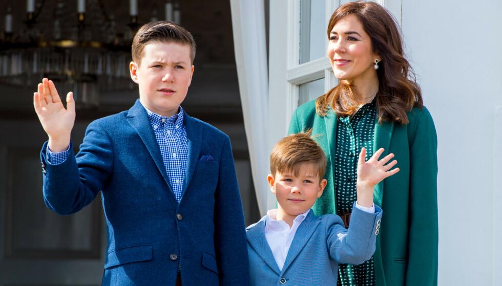 14 ÅR: Prins Christian fyller 14 år i dag, og kronprinsparet lar ikke sjansen til å dele nye bilder av sønnen gå fra seg. Foto: NTB Scanpix