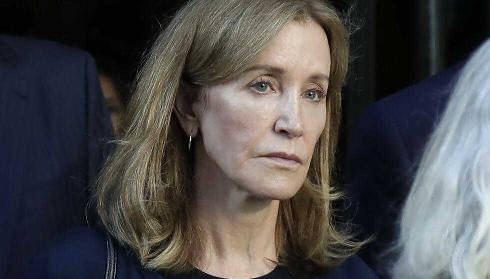 <strong>SONER:</strong> Felicity Huffman startet tirsdag soninga etter å ha blitt dømt for en måned siden. Foto: NTB Scanpix