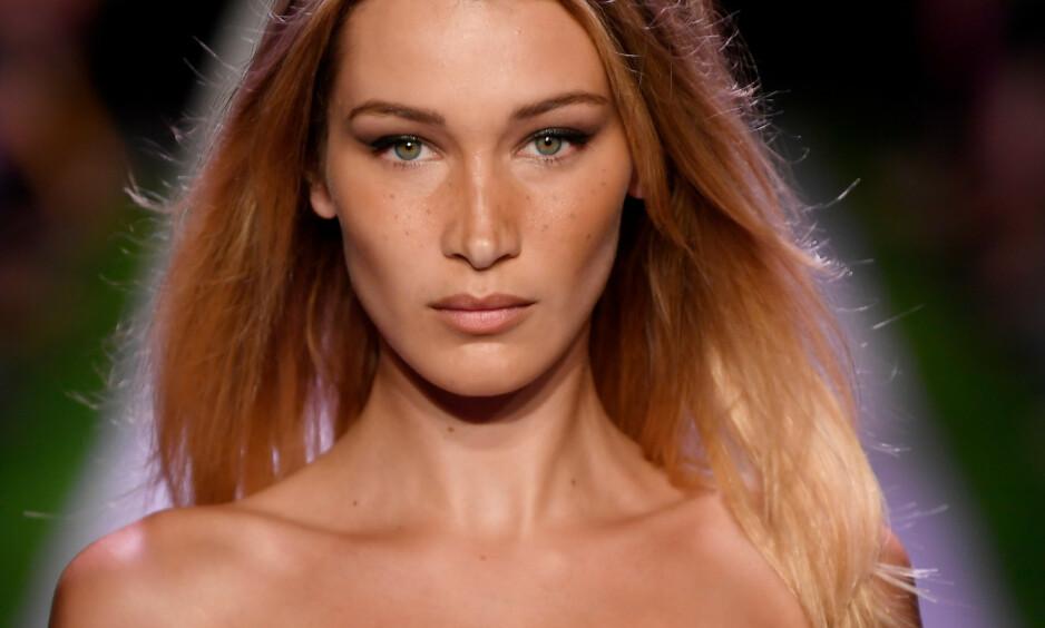 GYLNE SNITT: En britisk plastikkirurg mener modell Bella Hadid er verdens vakreste kvinne, basert på en metode utviklet etter det gylne snitt. Norske eksperter mener på sin side at dette er «vrøvl». Foto: NTB scanpix