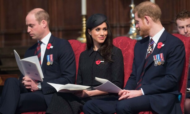 UENIGE: Flere hevdet at prins William ikke var enig i brorens valg av kjæreste. Foto: NTB Scanpix