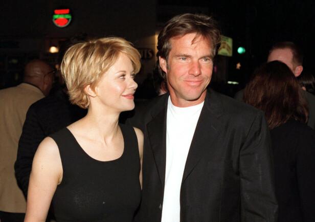 BEDRE FORHOLD: Dennis Quaid og Meg Ryans ekteskap varte i ti år fra 1991 til 2001. I dag har de et bedre forhold enn rett etter skilsmissen. Foto: NTB scanpix